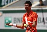 """Po trijų stabdymų dėl lietaus ir daugiau nei 4 valandų korte N.Djokovičius krito """"Roland Garros"""" pusfinalyje"""