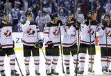 Aštuonis įvarčius britams įmušę kanadiečiai iškovojo pirmą pergalę pasaulio čempionate