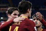 """""""AS Roma"""" namuose užtikrintai susitvarkė su """"Sassuolo"""""""