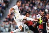 """C.Ronaldo pelnė įvartį, tačiau """"Juventus"""" prarado pirmuosius taškus Italijos pirmenybėse"""