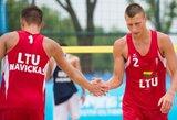 Lietuviai neperžengė Europos jaunimo paplūdimio tinklinio čempionato aštuntfinalio barjero