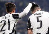 """Gražiais įvarčiais papuoštose Italijos taurės rungtynėse """"Juventus"""" įrodė pranašumą prieš """"Milan"""""""