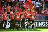"""""""Rennes"""" ekipa Prancūzijos čempionate iškovojo užtikrintą pergalę"""