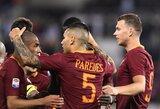 """Romoje rekordiniai E.Džeko įvarčiai nukovė """"Empoli"""" klubą"""