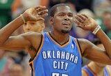 """42 taškus pelnęs K.Durantas padovanojo """"Thunder"""" komandai pergalę"""