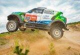"""Po avarijos paskutiniame Dakaro ralio etape V.Žala pirmą kartą išbandė suremontuotą """"Mini"""""""