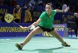 Fantastiškai žaidžianti A.Stapušaitytė badmintono turnyre Brazilijoje pateko į pusfinalį