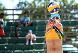 Lietuvės be pralaimėjimų žygiuoja Europos jaunimo paplūdimio tinklinio čempionate