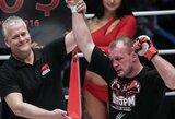 """Po diskvalifikacijos grįžęs A.Šlemenko """"Bellator"""" turnyre nokautavo varžovą ir iškovojo ketvirtą pergalę iš eilės"""