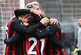 """Europos lyga: 2 įvarčių deficitą panaikinęs ir pergalę iškovojęs """"Milan"""" užsitikrino vietą į kitą etapą"""