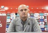 """Žaidimą Ukrainoje įvertinęs V.Urbonas: """"Taktiniai pakeitimai davė rezultatą"""""""