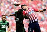 """""""Atletico"""" tik per pridėtą rungtynių laiką išplėšė lygiąsias su """"Eibar"""" ekipa"""