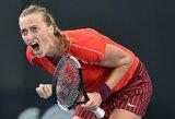 P.Kvitova po dramatiškos kovos laimėjo turnyro Sidnėjuje finalą