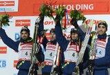 Lietuvos vyrų rinktinei nesėkmingai susiklostė pasaulio biatlono taurės estafetės varžybos