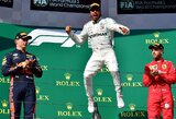 L.Hamiltonas Vengrijoje genialiu sprendimu išplėšė pergalę iš M.Verstappeno rankų