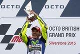 V.Rossi laimėjo šlapias Didžiosios Britanijos GP lenktynes, M.Marquezo viltys apginti titulą blėsta