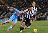 """""""Napoli"""" nesugebėjo įveikti """"Udinese"""" (+ kiti rezultatai)"""