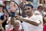 ATP 1000 serijos turnyre Monrealyje – pergalingas R.Federerio žygis ir sensacingi pusfinalio dalyviai