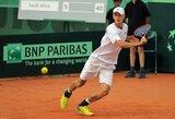 L.Mugevičius sutriuškino varžovą ir iškovojo ATP vienetų reitingo tašką