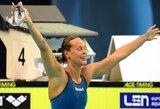 Pasaulio rekordininkė F.Pellegrini pratęsė savo dominavimą 200 m plaukimo laisvuoju stiliumi rungtyje (+ kiti rezultatai)