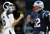 """""""Super Bowl LIII"""": jauniausias trenerio ir įžaidėjo duetas prieš visų laikų rekordą pagerinti galintį T.Brady"""