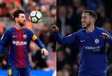 Čempionų lygos savaitė: į aštuntfinalio kovas stos L.Messi ir E.Hazardo kariaunos