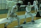 Europos jaunimo fechtavimo čempionate abu lietuviai nukeliavo iki antrojo atkrintamųjų varžybų rato