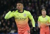 """S.Aguero nerealizavo baudinio, tačiau """"Man City"""" įveikė """"Leicester City"""""""