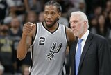 """Spurs"" treneris susitiks su K.Leonardu ir aptars jo sugrįžimo detales"