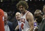 """Emocijų nesuvaldęs """"Bulls"""" vidurio puolėjas buvo išvarytas ir sviedė kėdę"""
