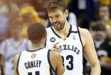 """M.Gasolio ir Z.Randolpho tandemo vedamas """"Grizzlies"""" išlygino serijos rezultatą"""