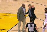 """Pralaimėjusi """"Warriors"""" nesustabdė D.Aytono, o išvytas S.Kerras pamojavo teisėjams"""