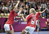Pasaulio moterų rankinio čempionate taškų nebarsto tik rusės ir danės