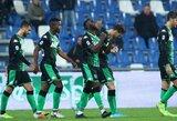 """""""Sassuolo"""" iškovojo užtikrintą pergalę"""