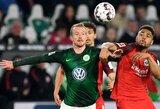 "Vokietijoje – ""Wolfsburg"" ir ""Eintracht"" komandų lygiosios"