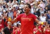 Po traumos sugrįžęs R.Nadalis ir 5 valandų trilerį laimėjęs D.Ferreras vedė Ispanijos rinktinę į Daviso taurės pusfinalį