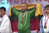 Su savimi kovojęs E.Valčiukas pagerino pasaulio jaunimo jėgos trikovės rekordą