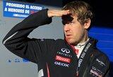 S.Vettelis po paskutiniųjų bandymų dienų - sutrikęs dėl bolido greičio