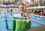 Lietuvos plaukimo čempionatas prasidėjo nauju U.Mažutaitytės rekordu