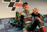 """Paskutinėje """"MotoGP"""" sezono kvalifikacijoje F.Quartararo 0.032 sek. aplenkė M.Marquezą"""