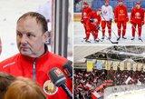 """Atšaukus pasaulio čempionatą Baltarusijos rinktinė vis tiek tęsia treniruotes: """"Jeigu kitos šalys išsigando, kodėl tą turėtų daryti ir Baltarusija?"""""""
