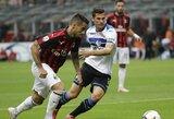 """""""AC Milan"""" apmaudžiai rungtynių pabaigoje išleido pergalę iš savo rankų"""