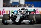 """L.Hamiltonas po pergalės kalbėjo apie bolido pažeidimus, S.Vettelis pripažino, kad """"Ferrari"""" taktikoje buvo spragų"""