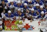 Nesustabdomi: rusai pasaulio ledo ritulio čempionate laimėjo visas dešimt rungtynių ir pasidabino aukso medaliais