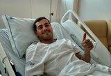 I.Casillaso žmona tikisi, kad vartininkas pirmadienį bus paleistas iš ligoninės