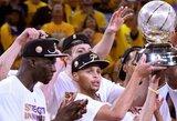 """Golden State Warriors"" triumfą NBA finale prognozuoja lygos istorija"