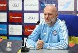 """Kazachstano treneris: """"Žaisime dėl rezultato"""""""