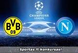 """Nemokama premija lažyboms! Spėkite """"Borussia"""" - """"Napoli"""" rungtynių rezultatą ir laimėkite prizus! (nugalėtojai)"""