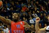 """CSKA pasityčiojo iš """"Partizan"""" krepšininkų, kurie buvo per žingsnį nuo antirekordo"""