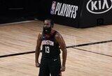 """J.Hardeno blokas nulėmė """"Rockets"""" patekimą į Vakarų pusfinalį"""
